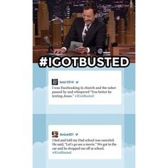 Jimmy asked for your #IGotBusted stories, and you did not disappoint! #FallonTonight