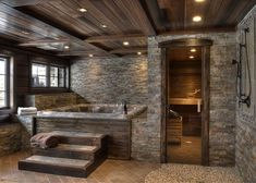 Rustic Master Bathroom, Rustic Bathroom Designs, Rustic Bathrooms, Dream Bathrooms, Dream Home Design, My Dream Home, House Design, Barn House Plans, Dream House Plans