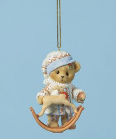 """Treasured Toyland"" bear with rocking reindeer. First in the Laplander ornament series, 2014  #4026275   (7/2016) Loving this Reindeer Rocker Ornament on #zulily! #zulilyfinds"