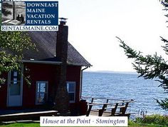 Cozy Maine waterfront cottage w/ breathtaking views of the ocean! Rustic Cottage, Coastal Cottage, Maine Vacation Rentals, Ideal Home, Ocean, Tours, Cabin, House Styles, Outdoor Decor