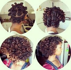 http://www.shorthaircutsforblackwomen.com/bantu-knot-out/ How to get the curly look