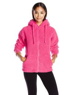 BEARPAW Women's St Petersburg Jacket, Coral, Medium. Shape retention. Shrink resistant. Keeps you Warm. Machine wash cold.