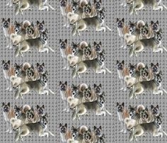 Akitas group fabric by dogdaze_ on Spoonflower - custom fabric