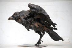 Bilderesultat for jean francois gambino sculpteur Sculptures Céramiques, Pottery Sculpture, Horse Sculpture, Sculpture Clay, Abstract Sculpture, Clay Birds, Ceramic Birds, Ceramic Art, Crow Art
