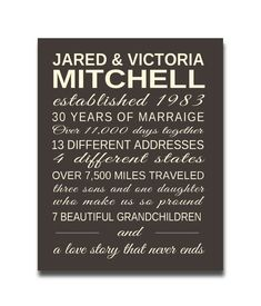 Personalized Anniversary Gift Our Life Story - the perfect anniversary gift!