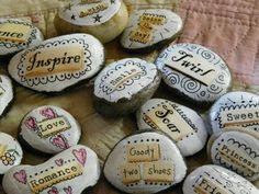 Here is a project for you and your family.....take all those rocks you collect ...you know...when you are at the river/lake/walks.....and tu...