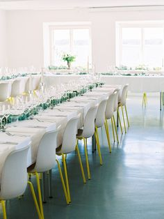 Modern reception space: http://www.stylemepretty.com/2016/02/22/30-must-haves-to-plan-the-ultimate-cool-girl-wedding/