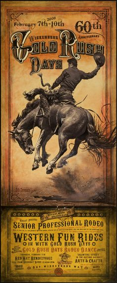 Another rodeo poster Classic Cowboy! ART