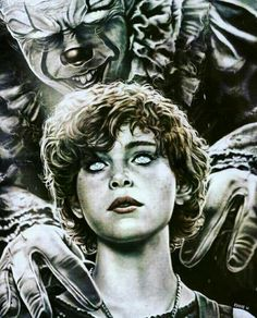 Pennywise has Beverly Marsh caught in the Deadlights. Horror Movie Characters, Horror Movies, Horror Fiction, Bill Skarsgard Pennywise, It The Clown Movie, Pennywise The Dancing Clown, Horror Icons, Creepy Clown, Arte Horror