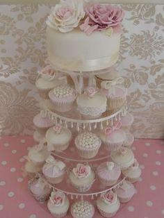 Beautiful wedding cupcake tower.