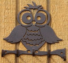 Brass Towel OWL Figurine Ring Door Hanging Napkin Wall Mount Vintage Home Decor