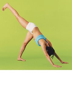 Get a #yoga booty with the Three-Legged Down Dog.