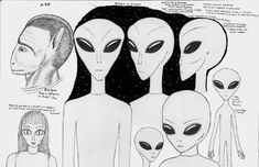 A Visual Guide to Alien Beings - David W. Chace Arte Alien, Alien Art, Blue Planet Project, Ancient Astronaut Theory, Ghost Sightings, The Blue Planet, Myths & Monsters, Alien Drawings, Alien Concept Art