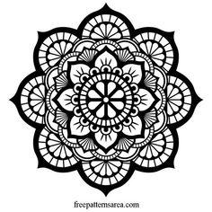 Printable and cuttable beautiful floral lotus mandala art design. This circle mandala drawin. Mandalas Painting, Mandalas Drawing, Mandala Coloring Pages, Design Lotus, Art Design, Lotus Mandala Design, Mandala Pattern, Pattern Art, Mandala Art Lesson