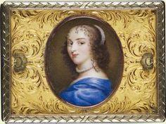Royal Collection: Tabaquera dorada con retrato (Inventario: 4753)