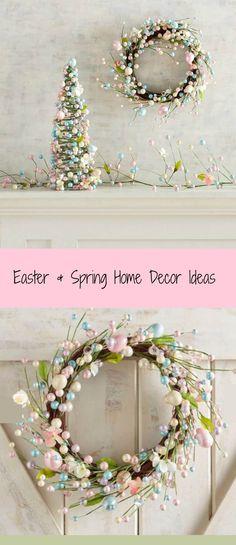 Easter and Spring Decor Ideas. Blue & Pink Beaded Easter Egg Decor Collection. #easter #spring #ad #decor #ideas #cheap #DIY #interiordesign #love #sale