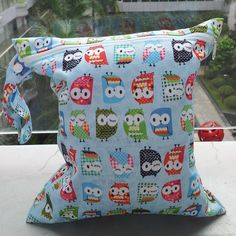 Waterproof Zipper Baby Cloth Diaper Nappy Wet Dry Bag Swimer Tote with Owl  Print 3bf137759cb84