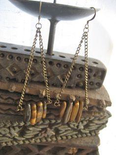 tigerseye earrings bohemian jewelry