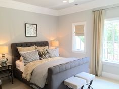 Bethany Mitchell Homes: Benjamin Moore Moonshine paint