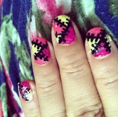 Stich nail art