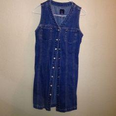 Jean dress Button up 100% cotton GAP Dresses