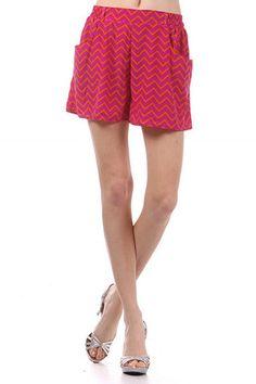 Chevron Shorts. $40