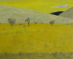 'Black Hill with Cloud' oil on canvas 56x76cm
