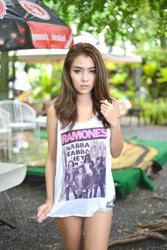 Ramones American Punk Rock Johnny Joey Dee Dee Tommy Ramone Gabba Gabba Hey Band Women Fashion Tank Top
