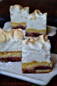 Tart Recipes, Baking Recipes, Plum Cake, Romanian Food, No Cook Desserts, Something Sweet, No Bake Cake, Cake Cookies, Food And Drink