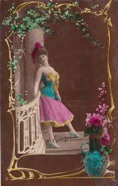 1910 Pretty Edwardian Actress Arlette Dorgère..original french postcard