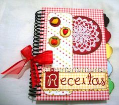 caderno de receitas scrapbook - Pesquisa Google