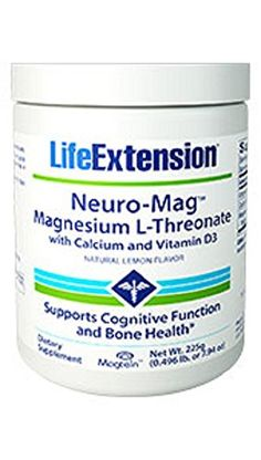Life Extension NeuroMag Magnesium LThreonate w Calcium and Vitamin D Lemon 225 gram powder -- Click on the image for additional details.