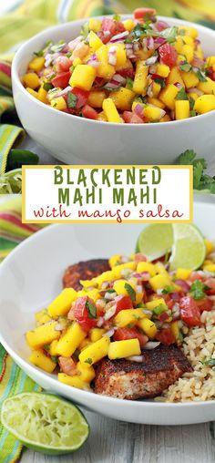 Blackened Mahi Mahi with Mango Salsa