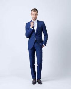 costume bleu col chle samson - Costume Col Mao Mariage