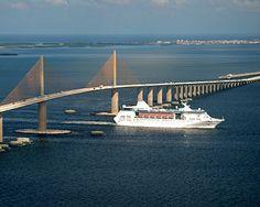 New Sunshine Skyway bridge Tampa bay Fl