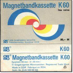 East German K60 (!) blank tape inlay