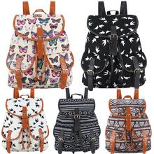 Exclusive New 2016 Handmade Bohemian Mochila Vintage Backpack Drawstring Printing Canvas Bagpack Sac a Dos Femme Rucksack Female(China (Mainland))