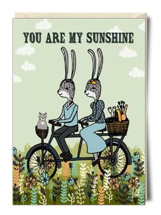 You are my sunshine - Card by Paper Sparrow. Available at thortful.