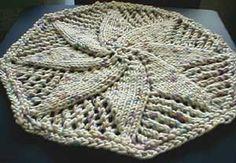 "Free Knitting Pattern - Dishcloths & Washcloths : Doily Dishcloth Originally from Vogue Knitting Baby Blanket book, "" Octagonal Lace"" pattern p. Dishcloth Knitting Patterns, Crochet Dishcloths, Knit Or Crochet, Lace Knitting, Crochet Crafts, Knit Patterns, Vogue Knitting, Knit Lace, Knitted Washcloths"