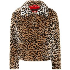 AlexaChung Leopard-Printed Faux Fur Coat (2.270 RON) ❤ liked on Polyvore featuring outerwear, coats, jackets, coats & jackets, brown, fake fur coats, brown faux fur coat, fake fur leopard coat, leopard print coats and leopard print faux fur coat