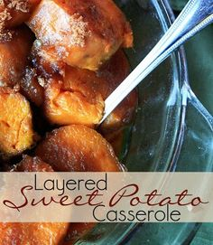 Layered Sweet Potato Casserole - an absolute MUST for our Easter dinner!