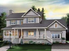 Country   Farmhouse  Traditional   House Plan 65510