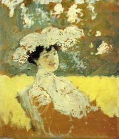 Femme avec un chapeau - (Edouard Vuillard)                              …