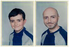 Patrick 1968 & 2011 Paris - recreating childhood photos-by Irina Werning