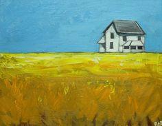 Landscape painting 258 16x20 inch original impasto by RozArt