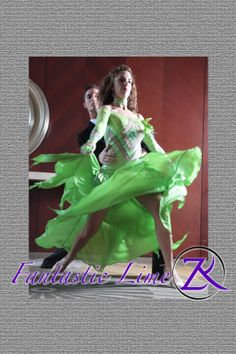 """""""Fantastic Lime"""" Beautiful ballroom gown for sale www.ZhannaKens.com Photography by Stephen Marino"""