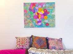 Rainbow Bliss Original Painting by ColorMelissa on Etsy