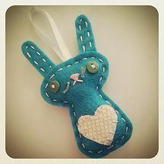 Felt Bunny Ornament by lova revolutionary