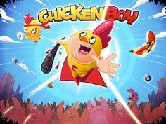 Chicken boy game logo