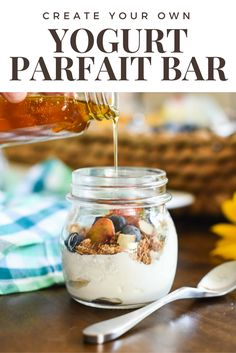 Create your own Yogurt Parfait Bar for a laid back weekend vibe your family will love | the INSPIRED home